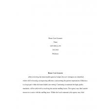 HCA 240 Assignment 5, Home Care Scenario Application: 2019
