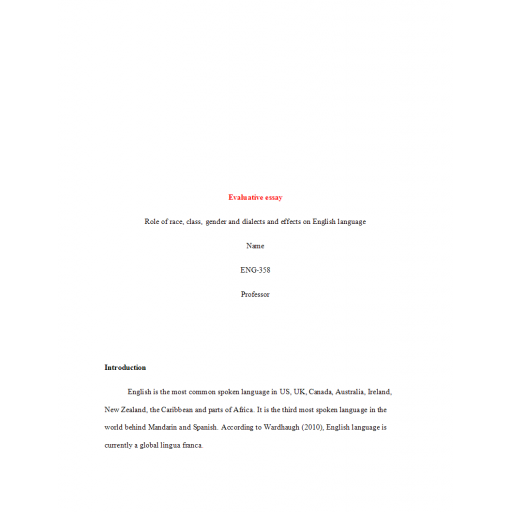 ENG 358 Week 2 Assignment, Evolution of English Language
