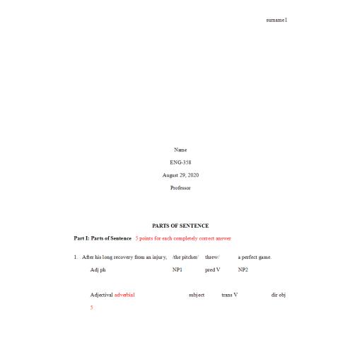 ENG 358 Week 8 Benchmark Assignment Rhetoric, Rhetorical Grammar, and Punctuation
