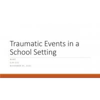 ELM 510 Week 3 Trauma in School Presentation
