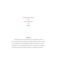 SOC 480 Week 1 Assignment, Needs Assessment Worksheet 1