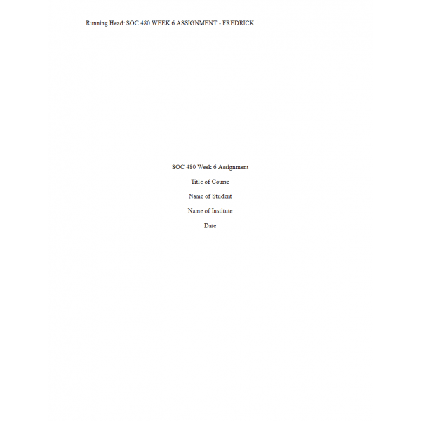 SOC 480 Week 6 Assignment, Christain Worldview Essay  Version 2