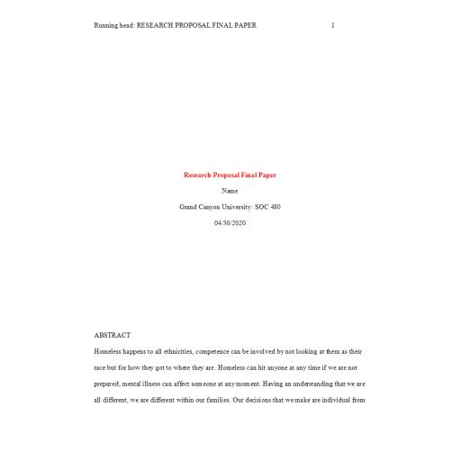 SOC 480 Week 8 Research Proposal Final