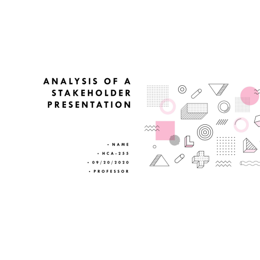 HCA 255 Topic 3 Assignment, Analysis of A Stakeholder Powerpoint - Centers for Disease Control
