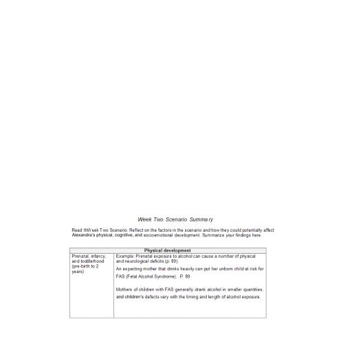 PSY 205 Week 2 Assignment, Scenario Summary: 2020