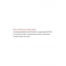HCA 817 Module 1 Discussion Question 2