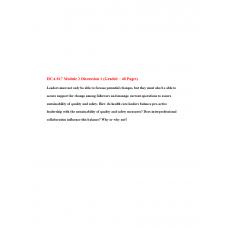 HCA 817 Module 2 Discussion Question 1