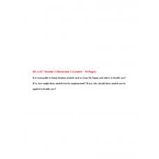 HCA 817 Module 2 Discussion 2