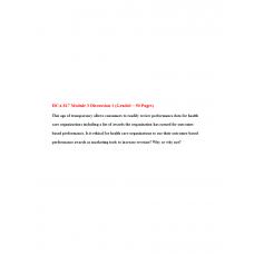 HCA 817 Module 3 Discussion 1