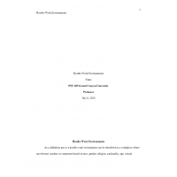 PSY 665 Week 1 Assignment, Hostile Work Environments: 2021