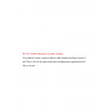 HCA 817 Module 4 Discussion 1