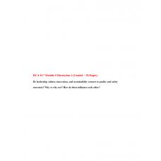 HCA 817 Module 5 Discussion 1