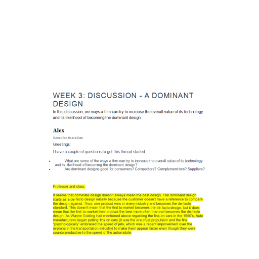 NETW 583 Week 3 Discussion 1 and 2
