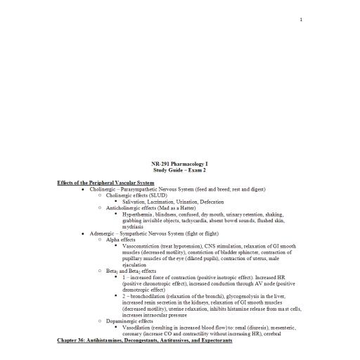 NR 291 Study Guide Exam 2