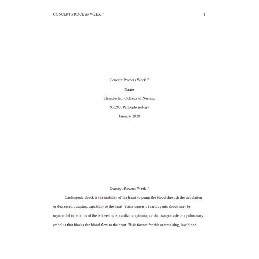 NR 283 Week 7 Concept Process Assignment 3