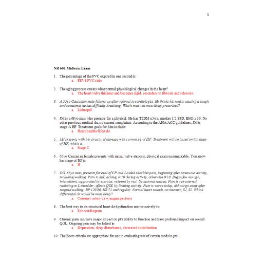 NR 601 Week 4 Midterm Exam 2