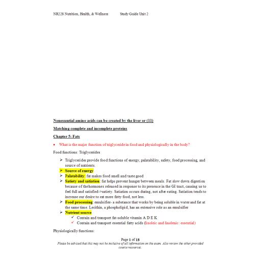 NR 228 Exam 2 Study Guide