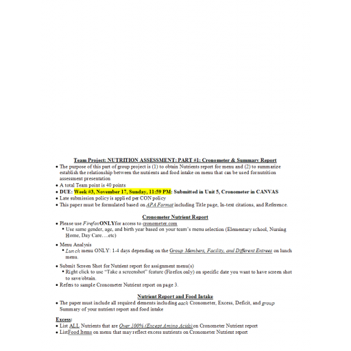 NR 228 Nutrition Assessment Part 1