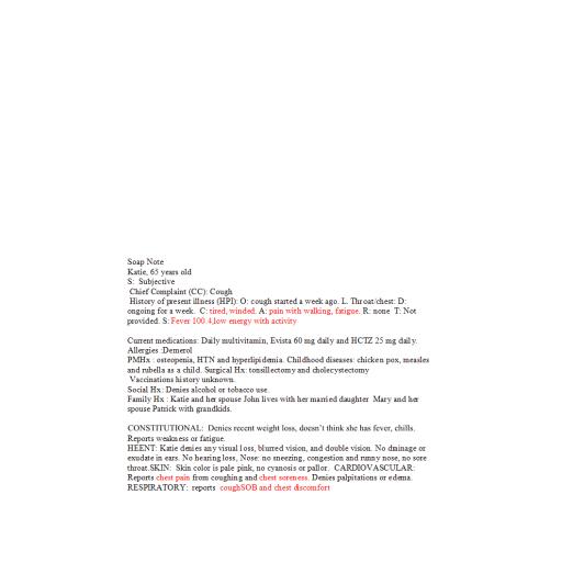 NR 511 Week 3 Homework - Clinical Encounter Log