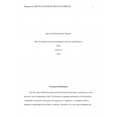 HLT 540 Week 5 Assignment 1, Broyles Textbook Practice Exercise