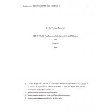 HLT 540 Week 7 Assignment 1, Broyles Textbook Exercise 1