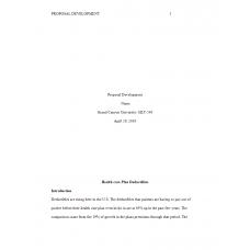 HLT 540 Week 8 Assignment 1, Proposal Development