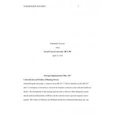 HLT 540 Week 8 Assignment 2, Stakeholder Scenario