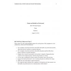 HLT 306 Week 2 Topic 2 Assignment 1 Homework