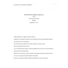 HLT 306 Week 4 Topic 4 Assignment 1, Homework