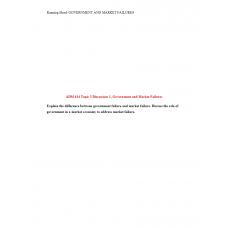 ADM 614 Topic 3 Discussion 1, Government Failure and Market Failure