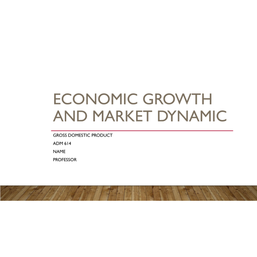 ADM 614 Topic 4 Assignment, Economic Growth and Market Dynamics Presentation 2