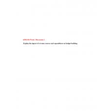 ADM 626 Module 2 Discussion Question
