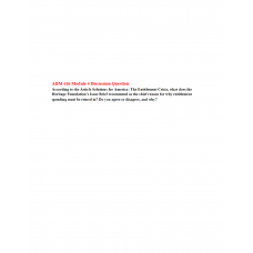 ADM 626 Module 4 Discussion Question