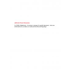 ADM 626 Module 5 Discussion Question