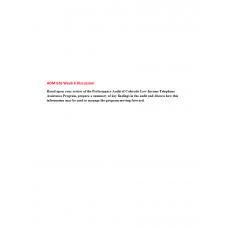 ADM 626 Module 6 Discussion Question