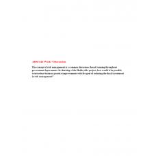 ADM 626 Module 7 Discussion Question