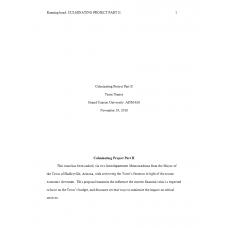 ADM 626 Week 4 Assignment, Culminating Project Part II