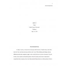 AMP 425 Week 1 Assignment, Environmental Scan