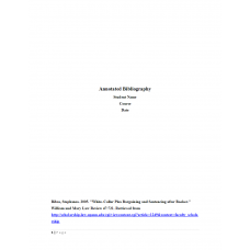 JUS 505 Week 1 Assignment 2 Annotated Bibliography: 2019