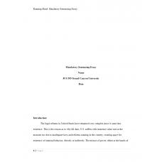 JUS 505 Week 3 Assignment - Mandatory Sentencing Essay: 2019