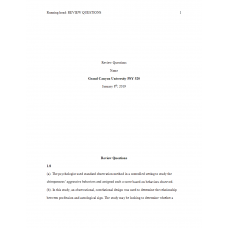 PSY 520 Topic 1 Exercise 1, Chapter 1 to 4