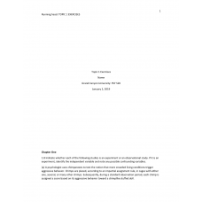 PSY 520 Topic 1 Exercise 2, Chapter 1 to 4