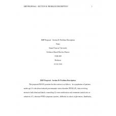 NUR 699 Week 2 Assignment 2, EBP Proposal Section B - Problem Description (Centure Health): 2019