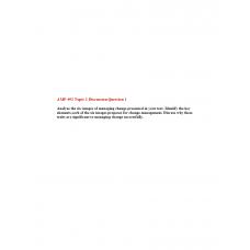 AMP 492 Topic 1 Discussion 1