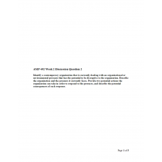 AMP 492 Topic 2 Discussion 2