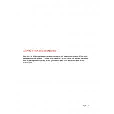 AMP 492 Topic 4 Discussion 1