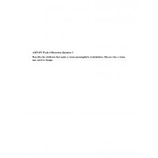 AMP 492 Topic 4 Discussion 2