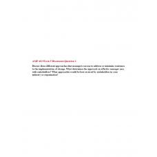 AMP 492 Topic 5 Discussion 2