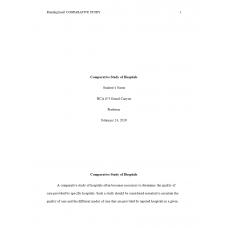 HCA 675 Week 4 Assignment, Process of Care: 2019