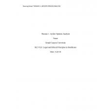 HLT 520 Week 3 Assignment, Thomas v: 2018
